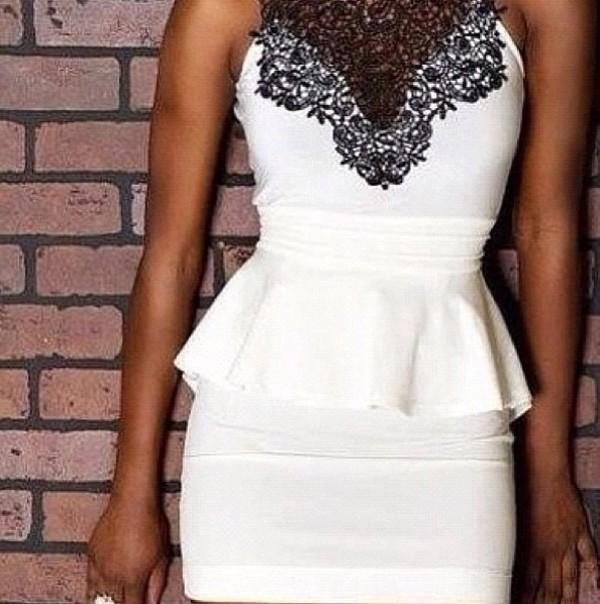 dress lace dress lace white dress peplum dress