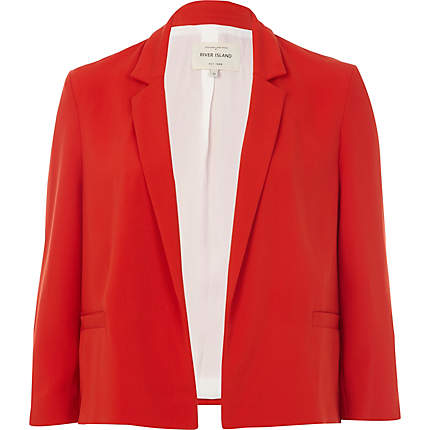 Red 3/4 Sleeve Boxy Blazer - Blazers - Coats / Jackets - Women
