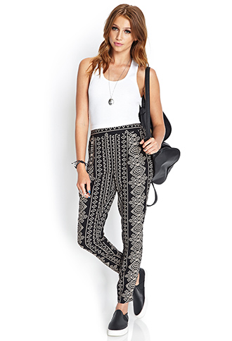 Tribal Print Pleated Pants | FOREVER 21 - 2000086288
