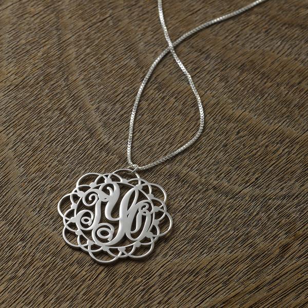 jewels monogram necklace initialise jewelry fashion jewelry personalized jewelry personalized monogram personalized pendent personalized silver pendent
