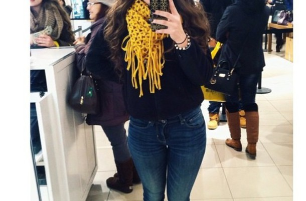 scarf yellow mustard knitted scarf same