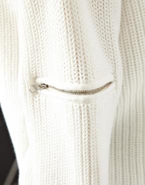 ASOS   ASOS Sweater With Zip Sleeve Detail at ASOS