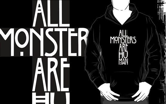 """All Monsters Are Human Cross"" T-Shirts & Hoodies by angelsorwhores 