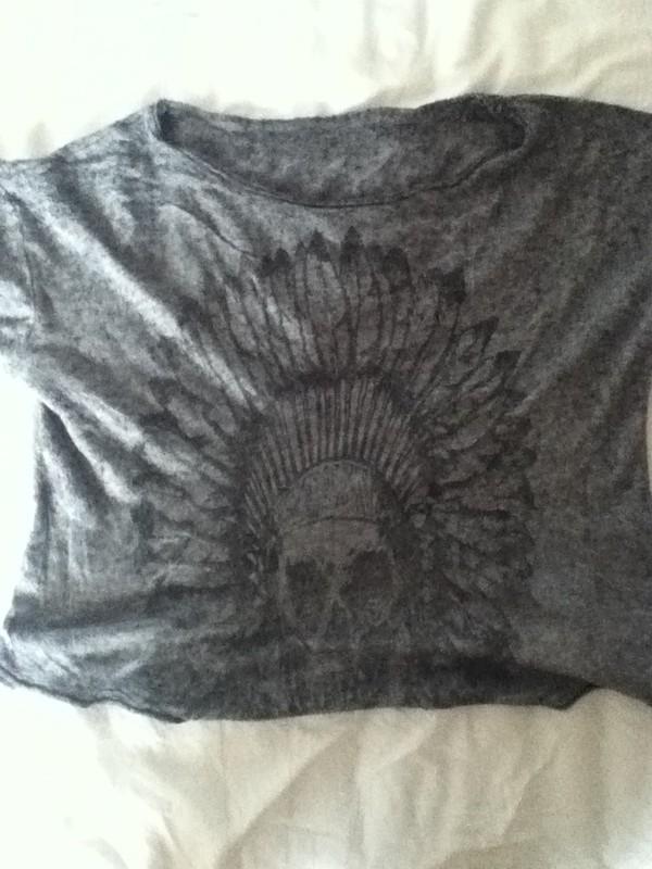 shirt t-shirt gris crop tops brandy melville cotton