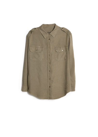 military-style tencel shirt