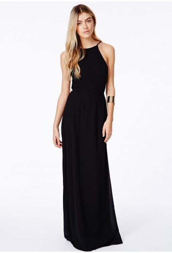 Pascaline High Neck Strappy Maxi Dress - Dresses - Maxi Dresses - Missguided