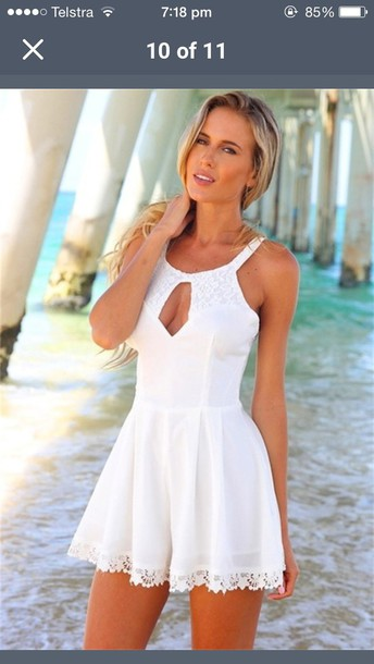 dress romper girly girl girly wishlist pink summer beach beautiful halo pastel cute fashion style boho lace summer outfits