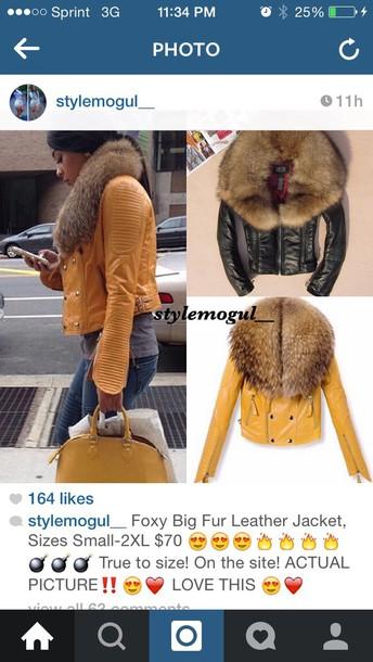 coat yellow leather coat