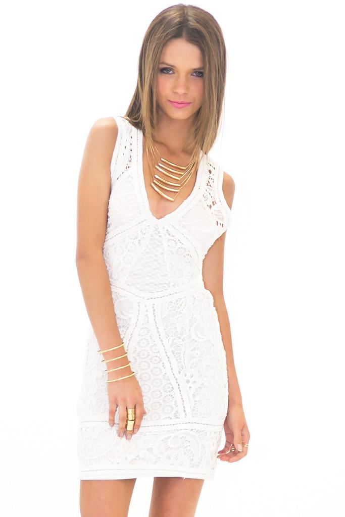 HELMUT MULTI LACE CONTRAST DRESS   Haute & Rebellious