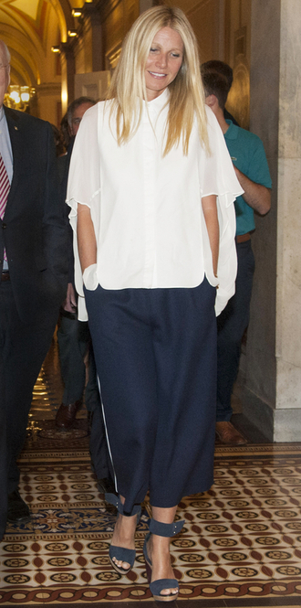 pants gwyneth paltrow sandals blouse