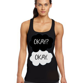 fault in our stars okay women tank top size S --- 3XL Screen-Printing tank top on Wanelo