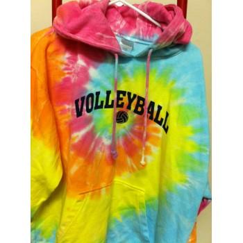 Volleyball Pastel Tie Dye Hoodie