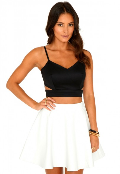 Helena Cut Out Strappy Bralet Top - crop top - bralet - missguided