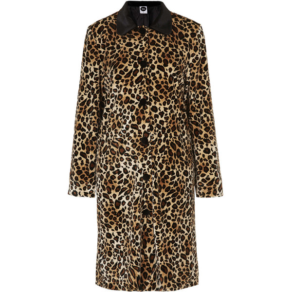 TOPSHOP **Leopard Dress Coat by The WhitePepper - Polyvore