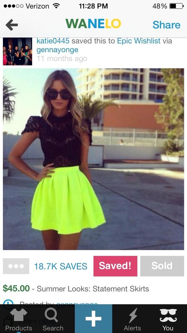 dress skirt little black dress black crop top mini dress short party dresses party dress neon skirt neon green skirt