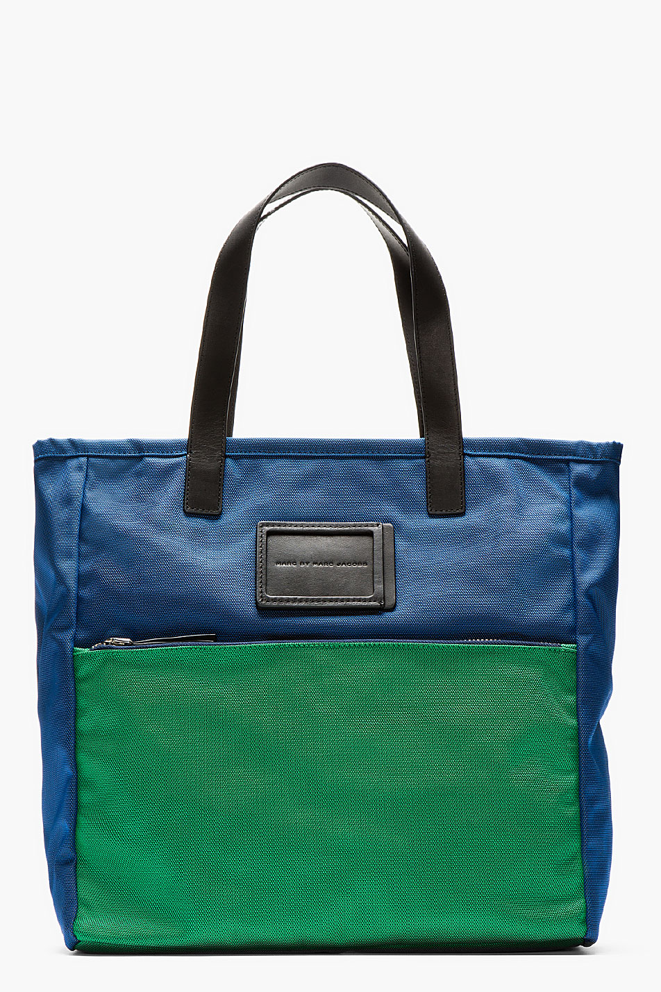 marc by marc jacobs blue and green nylon take me tote