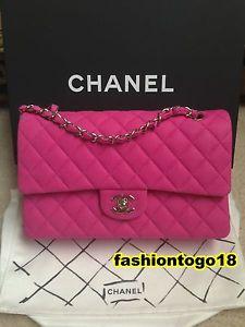 Chanel 13S Hot Pink Medium 2 55 Classic Flap Bag   eBay