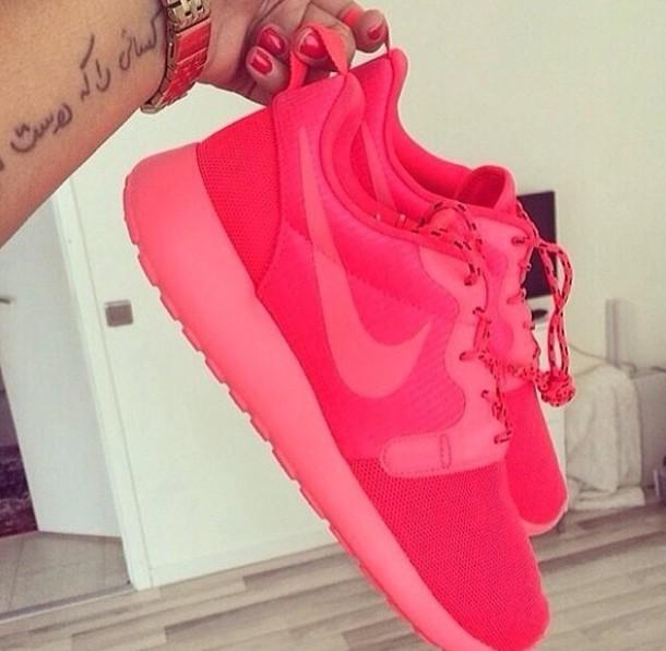 shoes nike roshe run sneakers pink nike roshe run girly nike nike running shoes nike free run