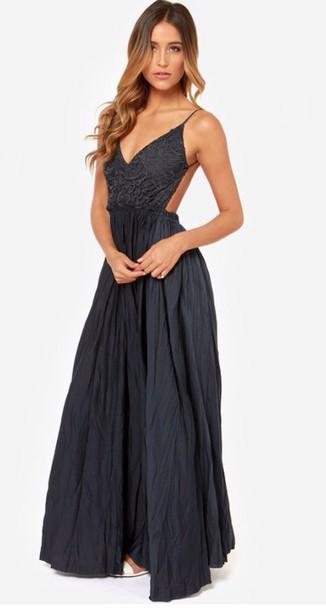 dress lulu*s navy dress navy dress full length open back dresses