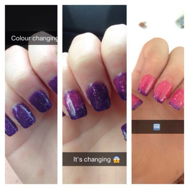 nail polish colour changing nail polish