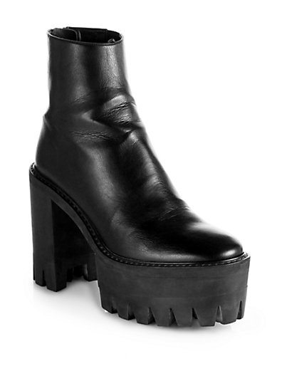 Stella McCartney - Faux Leather Platform Ankle Boots - Saks.com