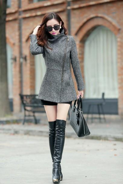 coat grey winter coat