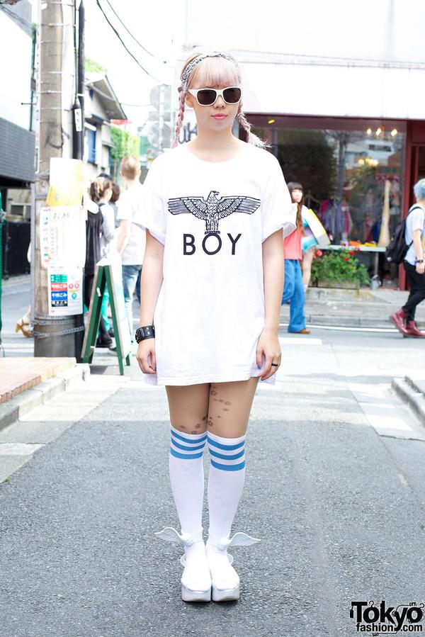 t-shirt boy london white black