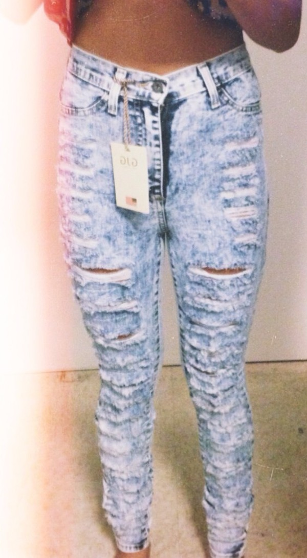 jeans jeans with a high waist ripped jeans acid wash