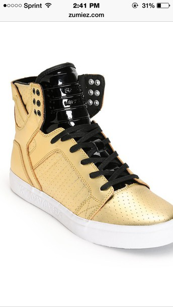 shorts gold shoes supra shoes style