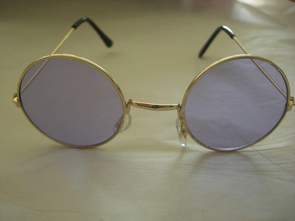 New Purple Hippie John Lennon Ozzy Round Peace Sunglasses | eBay