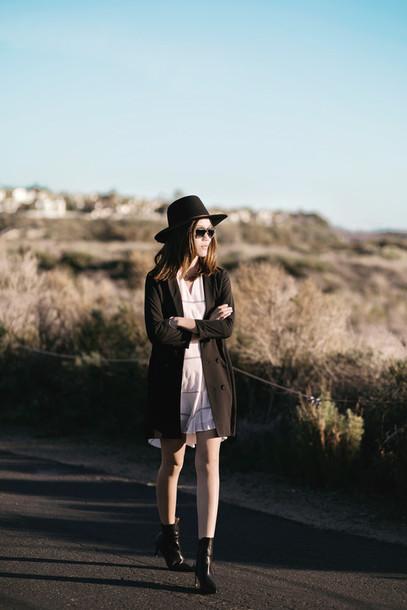 tsangtastic blogger cardigan shirt dress dress jacket hat sunglasses jewels shoes