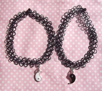 jewels choker necklace yin yang necklace