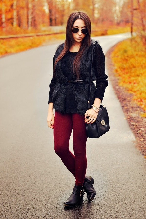 disturbed style jacket sweater pants shoes