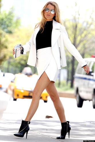 skirt white wrap wrap around mini skirt white skirt blake minimalist summer blake lively blake lively skirt wrap skirt leather wrap skirt envelopeskirt