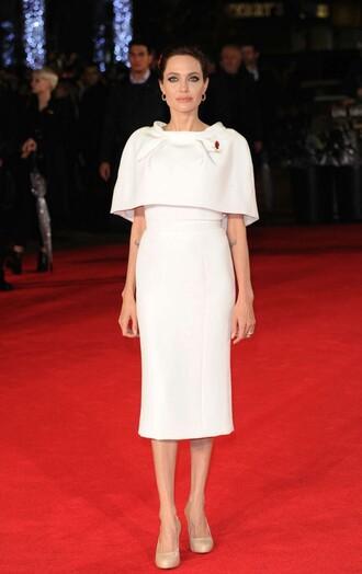 dress white dress angelina jolie