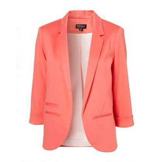 Free shipping New Fashion Women's 3/4 Sleeve Solid Candy Color Blazer Ladies' Casual Jacket suit-in Blazer & Suits from Apparel & Accessories on Aliexpress.com