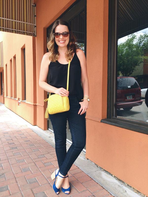 a pretty penny tank top bag shoes jewels sunglasses