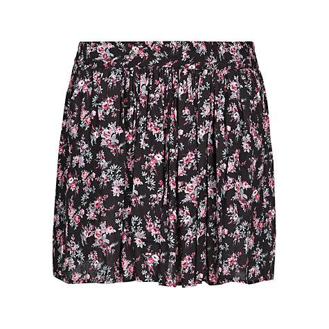 Buy Mango Floral Skater Skirt, Black | John Lewis