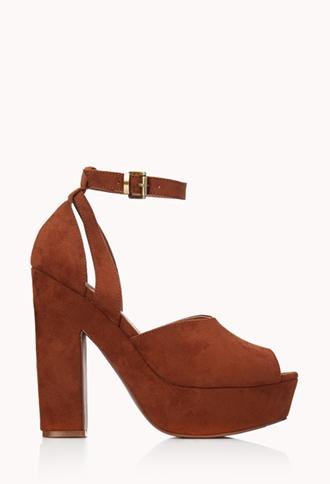Retro Ankle-Strap Sandals | FOREVER 21 - 2000111948