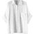 ROMWE | ROMWE Asymmetric Pocketed Batwing Rolled White Shirt, The Latest Street Fashion