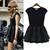 Hotsell Womens Srew Neck Color Matching Short Sleeve Dress Mesh Bubble Skirt | eBay