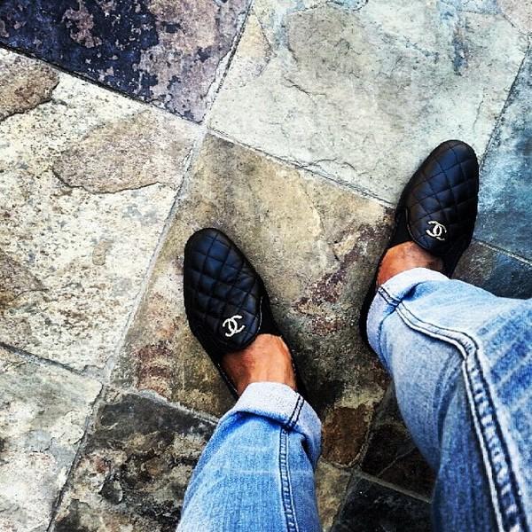 shoes chanel black women menswear quadrillé