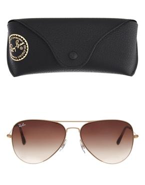 Ray-Ban | Ray-Ban Matte Gold Aviator Sunglasses at ASOS