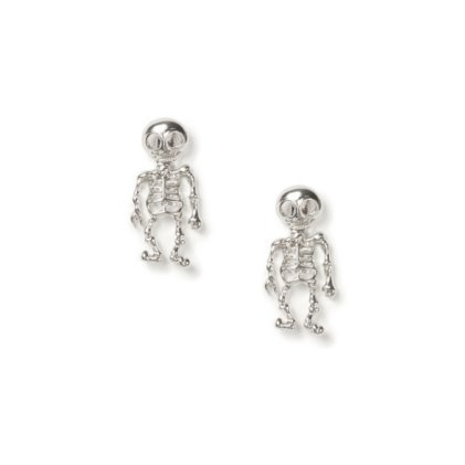 SKELETON FRONT AND BACK EARRINGS  | CLAIRE'S on The Hunt