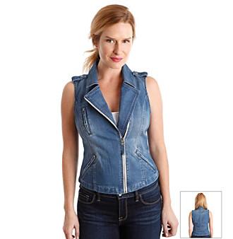 Product: Lucky Brand® Denim Moto Vest