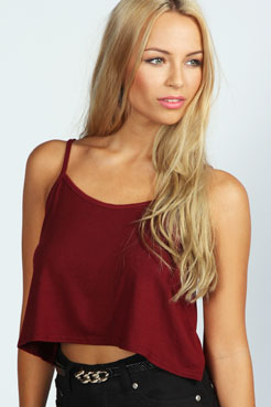 Alice Crop Swing Vest at boohoo.com
