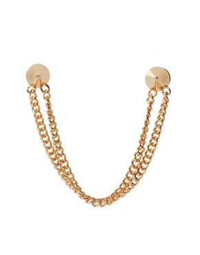 ASOS | ASOS Spike Collar Pins With Double Chain at ASOS