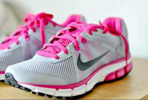 shoes nike pink grey