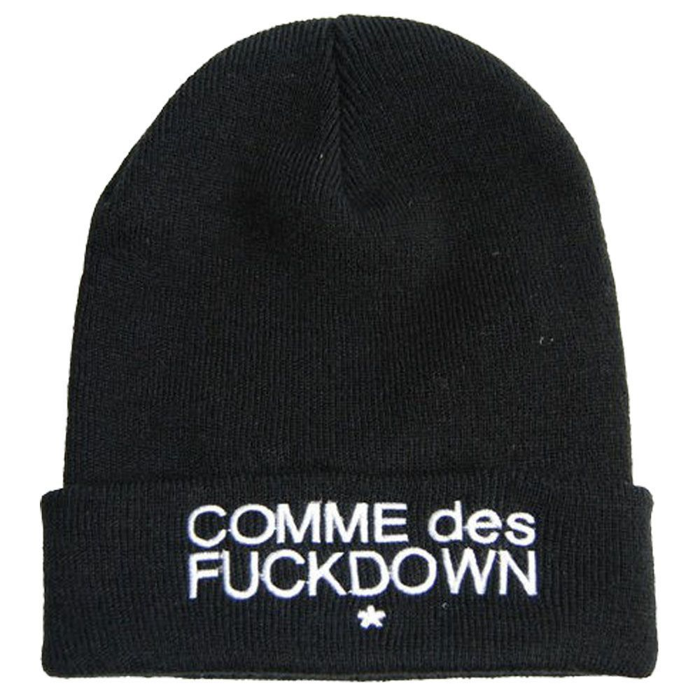 Black Hats Fashion Hip Hop Hat Ssur Comme Des Fuckdown Knitting Wool Beanie Hat | eBay
