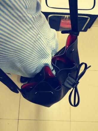 bag miranda kerr bag black bucket bag handmade large leather miranda kerr bags cheap bags discount bags